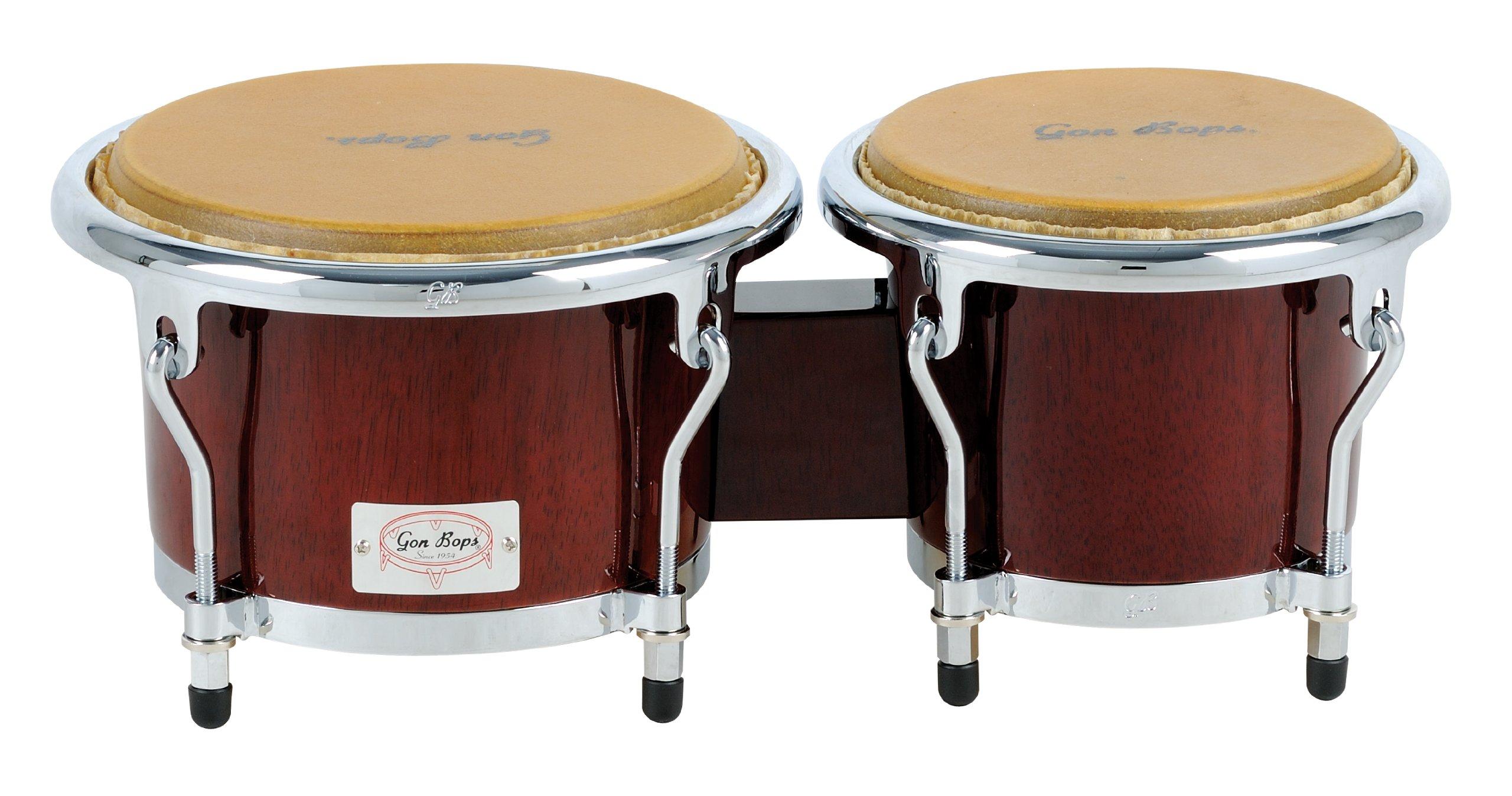 Gon Bops Tumbao Pro Series Bongo, 7 and 8.5-inch, Walnut Stain