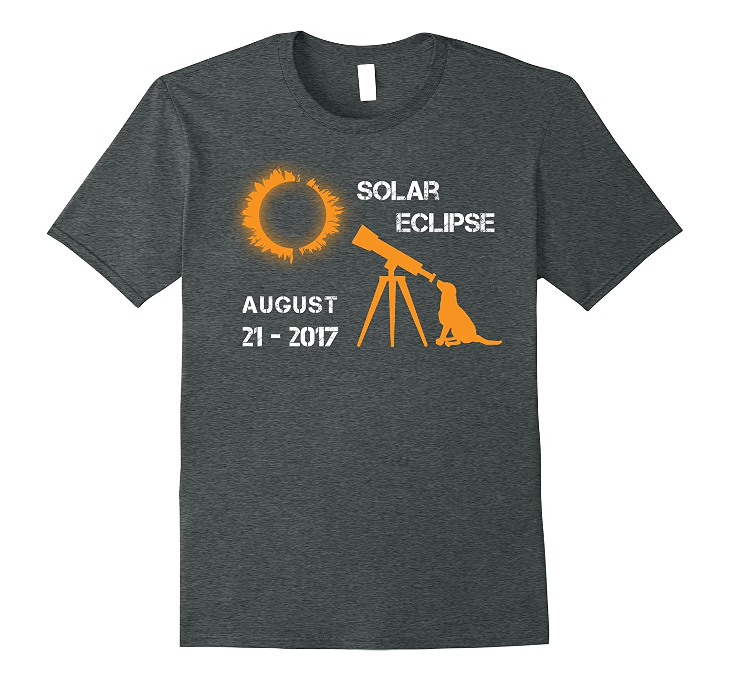 Dog Total Solar Eclipse August 2017 Funny Gift T-Shirt-BN