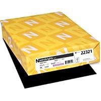 Neenah Astrobrights Premium Color Paper, 24 lb, 8.5 x 11 Inches, 500 Sheets, Eclipse Black (WAU22321)