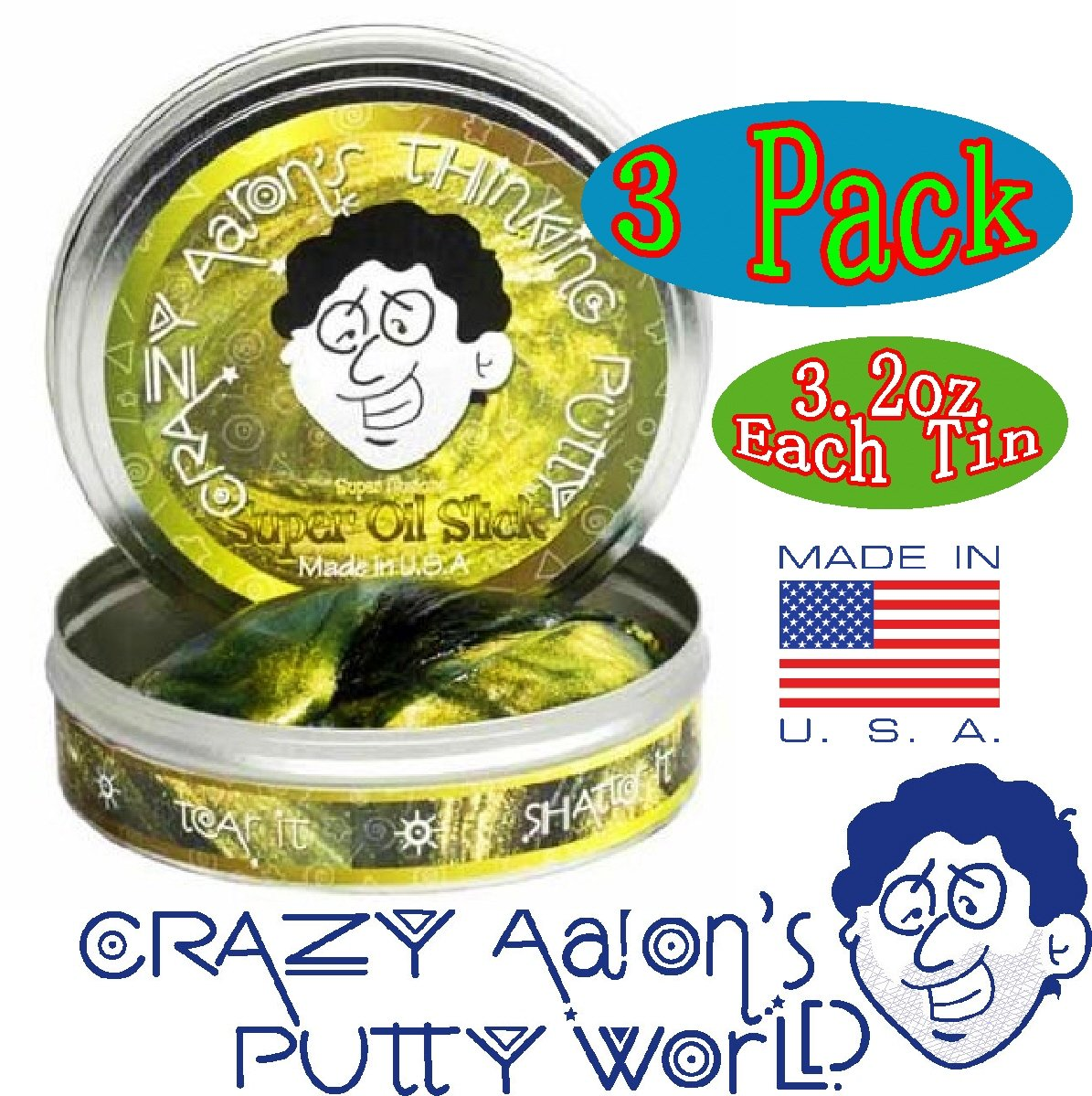 Crazy Aaron's Thinking Putty Super Illusions Super Scarab, Super Lava & Super Oil Slick Gift Set Bundle - 3 Pack by Crazy Aaron's (Image #4)