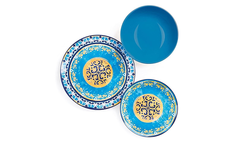 Excelsa ETNO Chic Service Table 21/Unit/é Porcelaine Multicolore