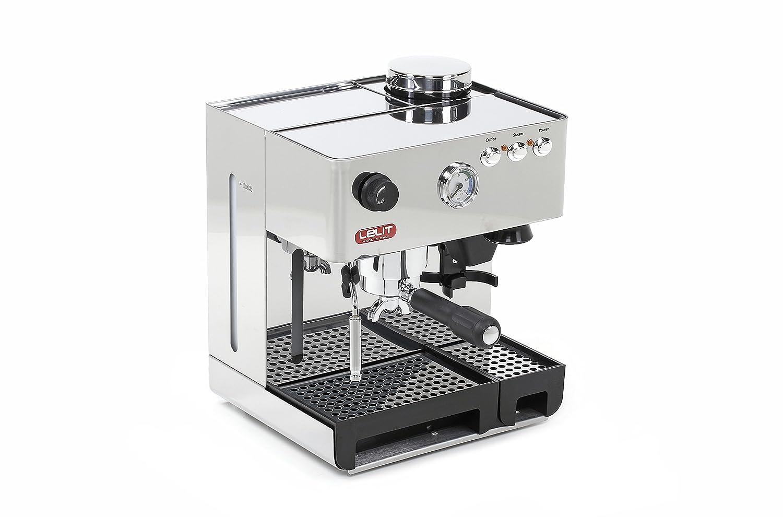 Lelit PL042EM Independiente Manual Máquina espresso 3.5L Acero inoxidable - Cafetera (Independiente, Máquina espresso, 3,5 L, Molinillo integrado, 1200 W, ...