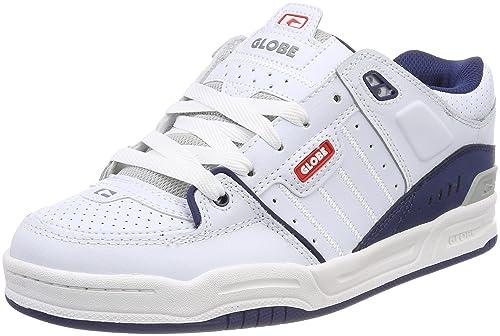 Fusion, Zapatillas de Skateboarding para Hombre, Blanco (White/Blue 0), 41 EU Globe