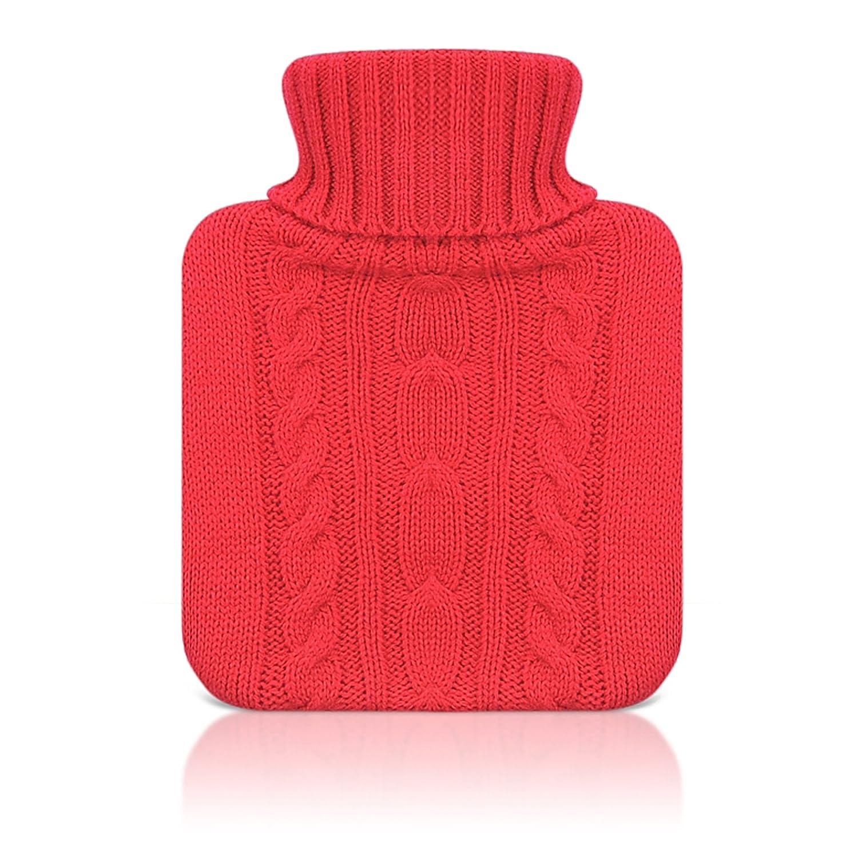 0,6 l Reer 4013.2 W/ärmflascheStrickbezug in rot