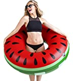 BigMouth Inc Giant Watermelon Pool Float, Funny Inflatable Vinyl Summer Pool or Beach Toy, Patch Kit Included