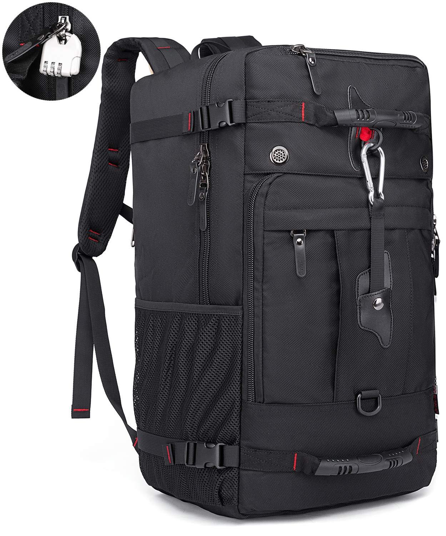 KAKA Travel Backpack 50L, Carry-On Bag Water Resistant High Capacity Weekender Backpack Rucksack for Men Women (Larger) by KAKA