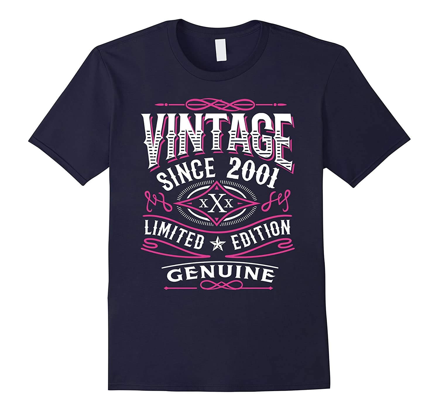 16th Birthday Gift T-Shirt Vintage 2001 - 16 Years Old Shirt-PL