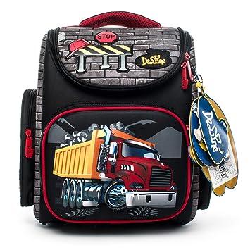 afea7fa0fc9b44 Delune Cartable Garçon Primaire Sac à Dos Enfant Backpack Sac d école pour  Les Garçons