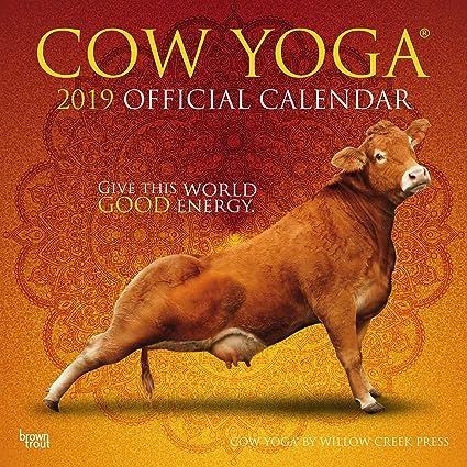 Calendario 2019 vaca Yoga - Vaca diseños - de animales de ...
