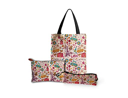 Buy Printelligent Design Women s Canvas Tote Bag Zipper Pouch Pencil Pouch  Combo Gift Pack Online at Low Prices in India - Amazon.in 6177559ca7836