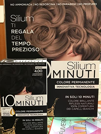 Silium Tinta Capelli Castano Intenso - 15 gr  Amazon.it  Bellezza 5e2e51538799