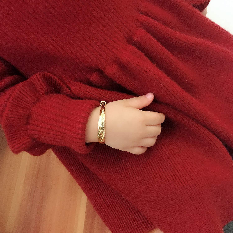 Children Bangle Vanski Creative Childrens Jewelry 18K Gold Plated Adjustable Baby Bangle Bracelet