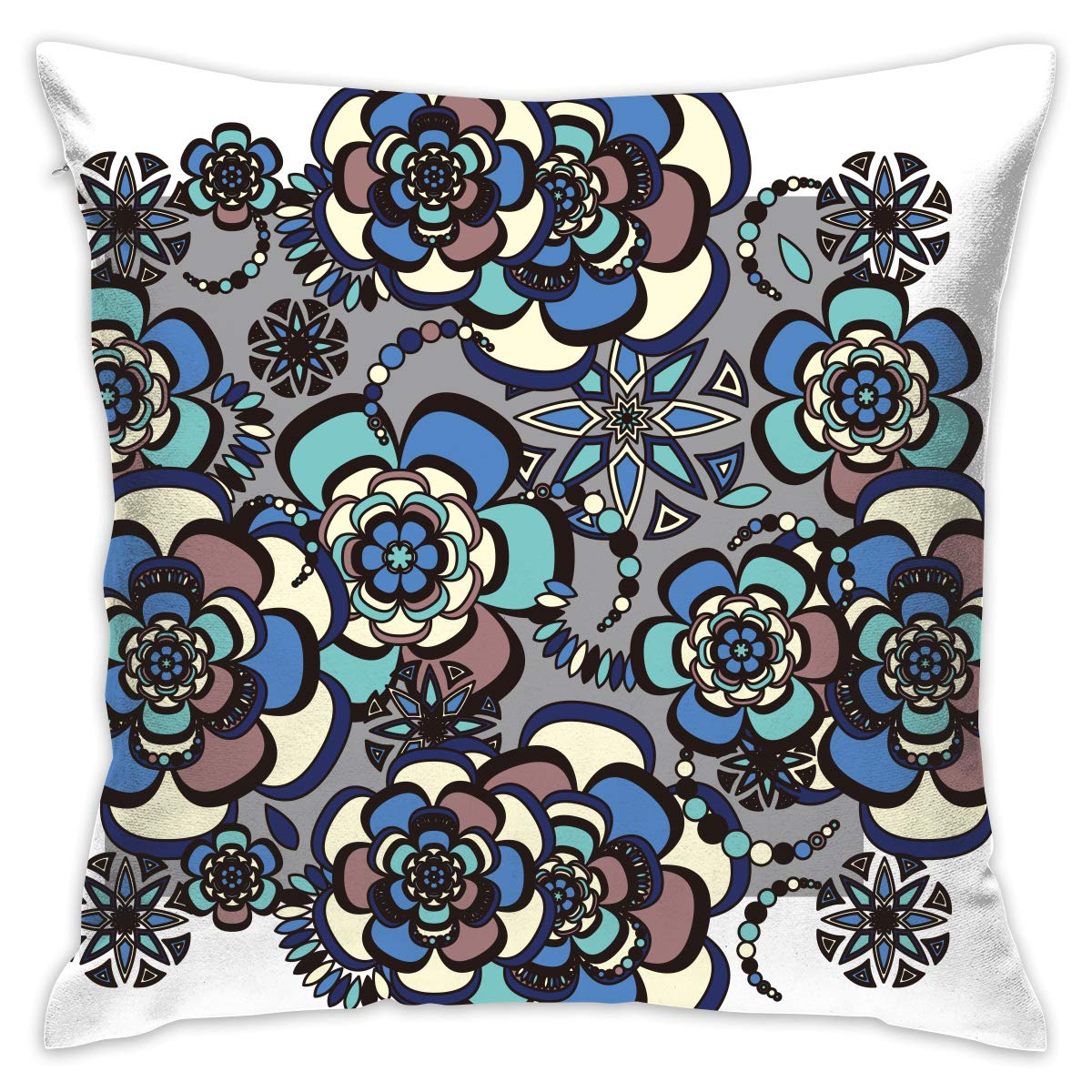Amazon.com: NEHomer Blue Dot Art Hold Pillow Home Square ...