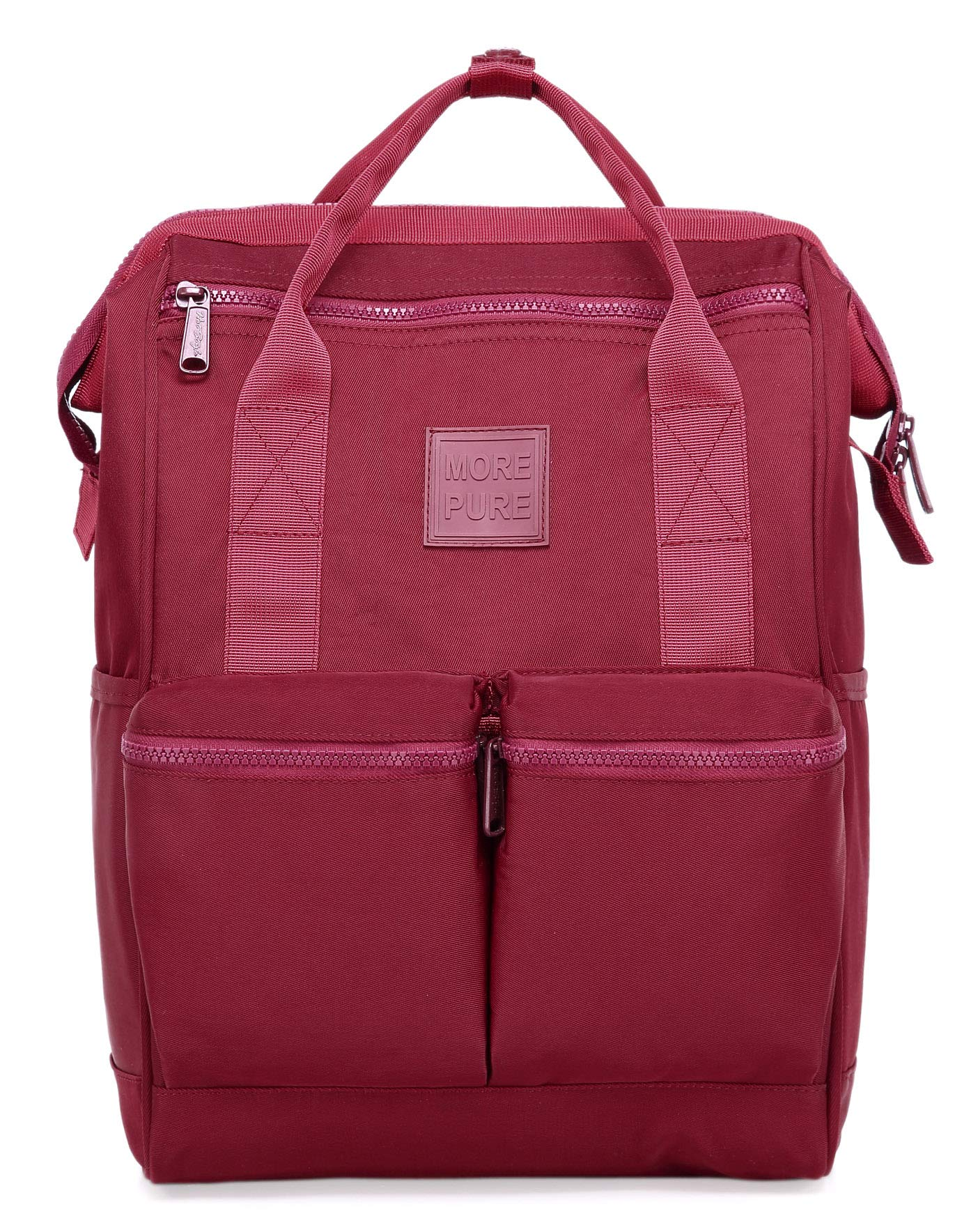 DISA Chic Doctor Bag Style College Backpack Travel Daypack | 17.3x10.6x6.7in | Marron