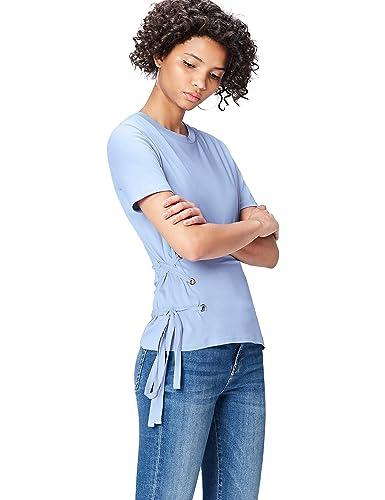 FIND T-Shirt con Lacci Incrociati sui Fianchi Donna