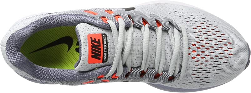 Nike Air Zoom Structure 20, Zapatillas de Entrenamiento para Hombre, Gris (Pure Platinum/Black-lt Carbon-Total Crim), 40 EU: Amazon.es: Zapatos y complementos