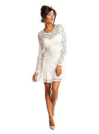 1b14934b0e0 La petite Parisienne Dress White M: Amazon.co.uk: Clothing