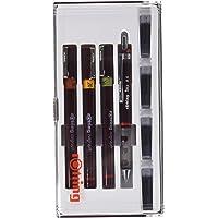rOtring Isograph Junior Teknik Çizim Seti, 3 Adet Teknik Çizim Kalemi (0,1 mm, 0,2 mm, 0,3 mm) + 1 adet 0,5 mm Tikky Mekanik Kurşun Kalem + Aksesuarlar