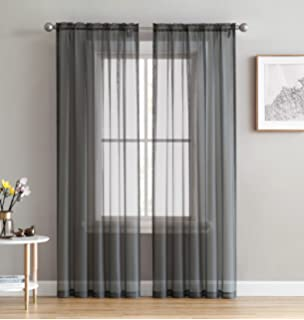 HLCME Charcoal Grey 2 Pack 55 Inch X 84 Window