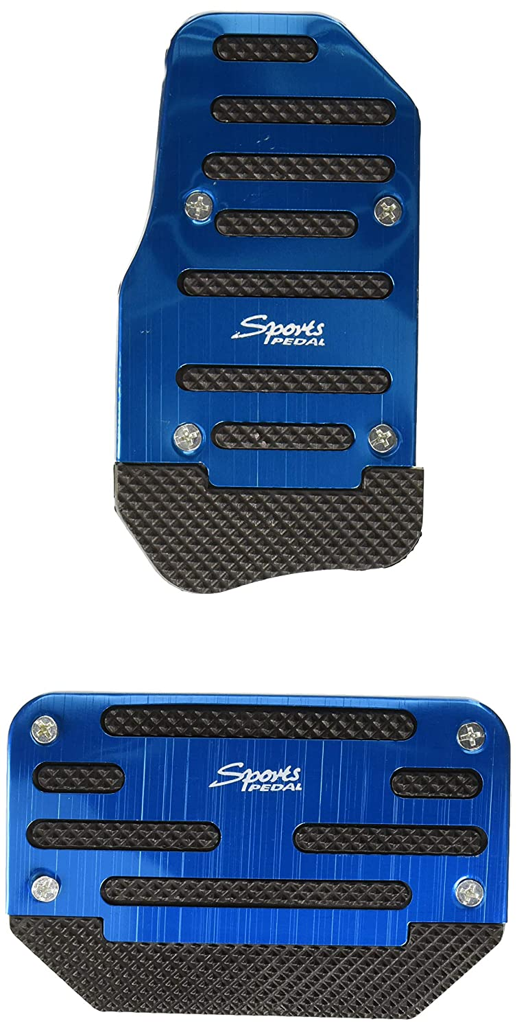 2 Pack uxcell a17021400ux0747 2pcs Metal Plastic Blue Non-Slip Gas Brake Pedal Cover Pad for Car Vehicle