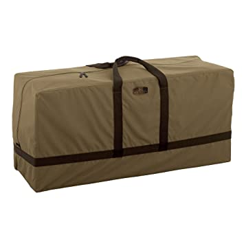 Classic Accessories Hickory Heavy Duty Patio Cushion U0026 Cover Storage Bag    Durable And Water Resistant