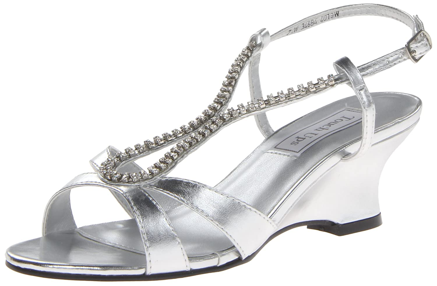 Touch Ups Women's Regina Wedge Sandal B00FYIRK4M 7.5 W US|Silver Metallic