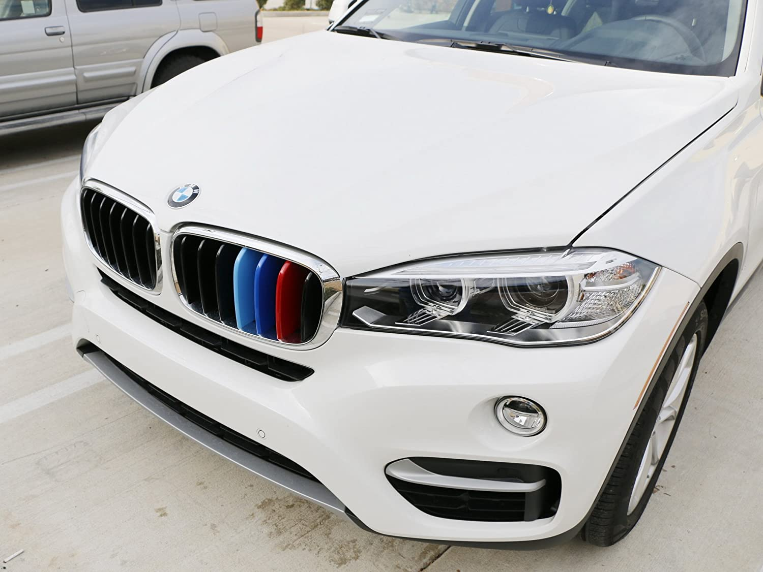 iJDMTOY Exact Fit //////M-Colored Grille Insert Trims For 1999-2001 BMW E46 Pre-LCI 3 Series 4-Door Sedan 320i 323i 325i 328i 330i with 10-Beam ONLY
