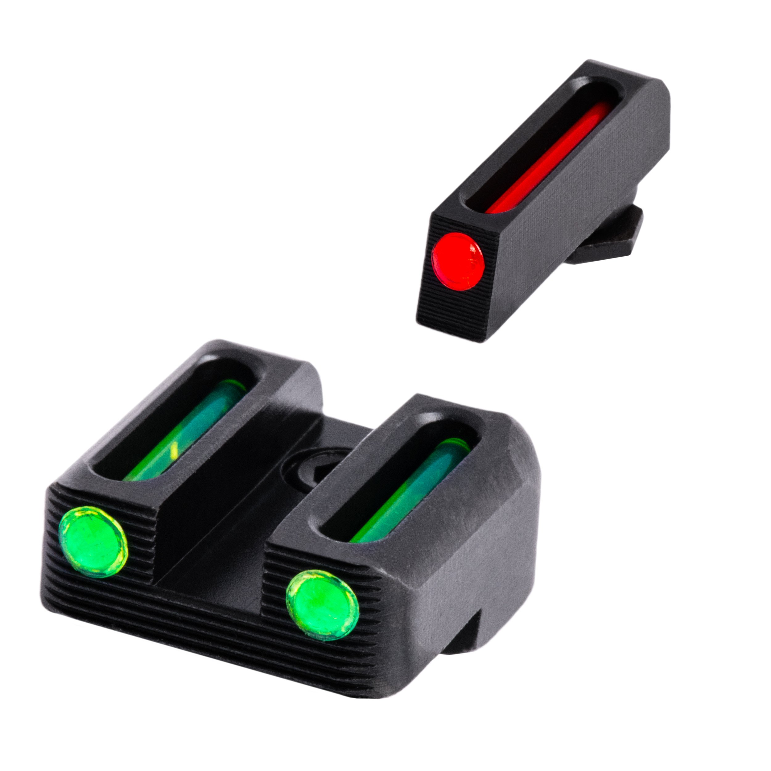TRUGLO Fiber-Optic Front and Rear Handgun Sights for Glock Pistols, Glock 42, 43