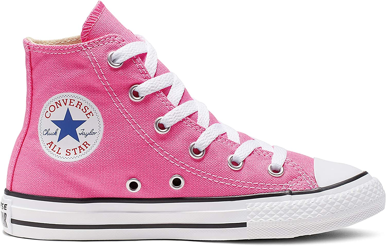 B0000937KY Converse Kids' Chuck Taylor All Star Canvas High Top Sneaker, Pink, 16 M US 81t7qPx8yrL
