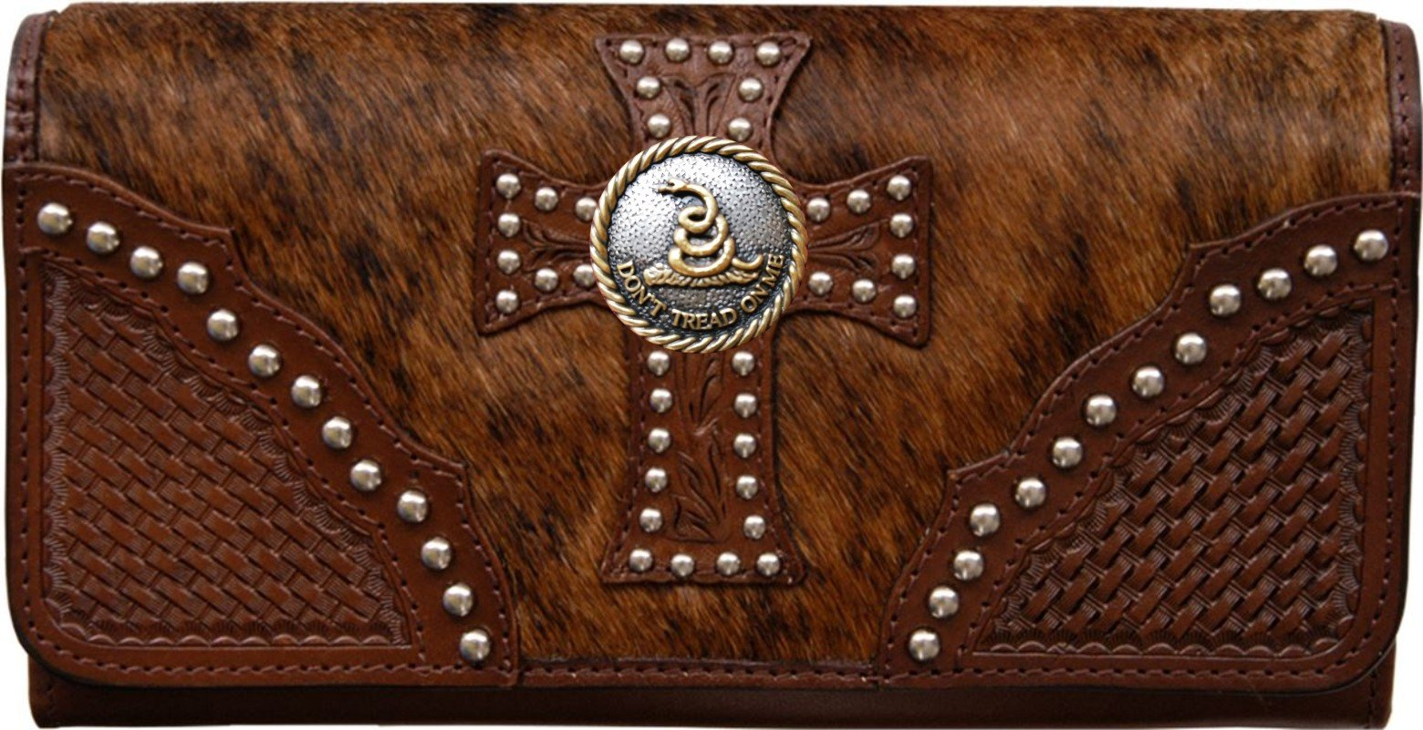 Custom Don't Tread On Me Natural Hair Christian Clutch Wallet with removable checkbook