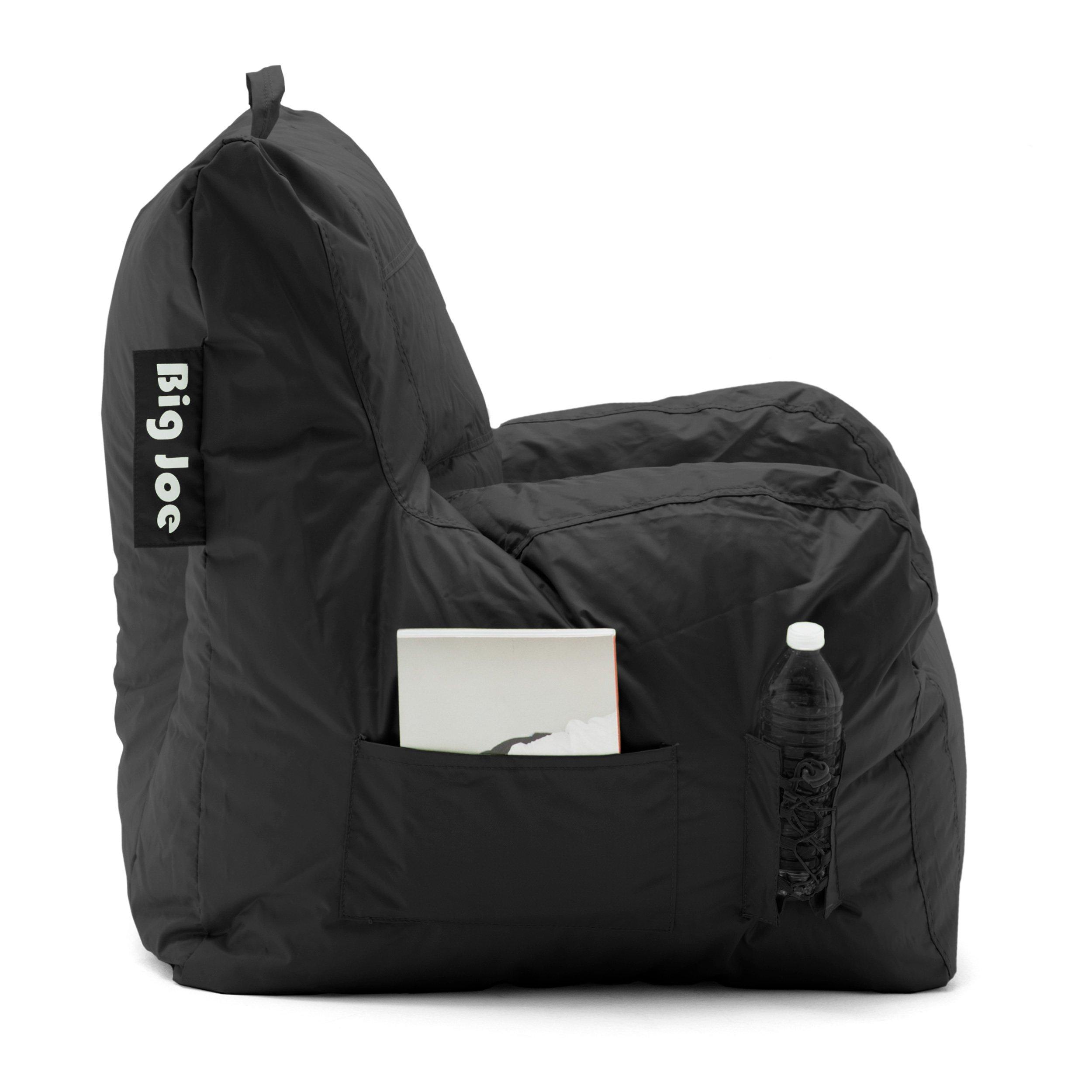 Big Joe Dorm Bean Bag Chair Stretch Limo Black 645602 Bean Bags