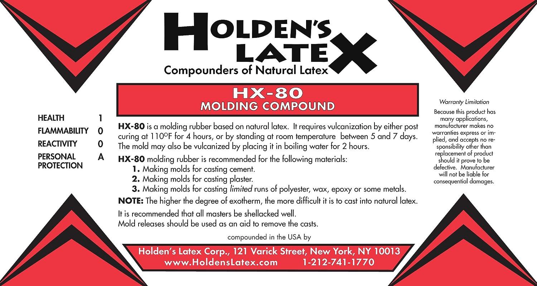 Amazon.com: HX-80 Natural Liquid Latex Mold Making Rubber (5 Gallon Pail)