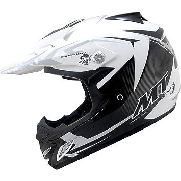 MT Synchrony MX2 Steel Kids Motocross Helmet M Black White Grey