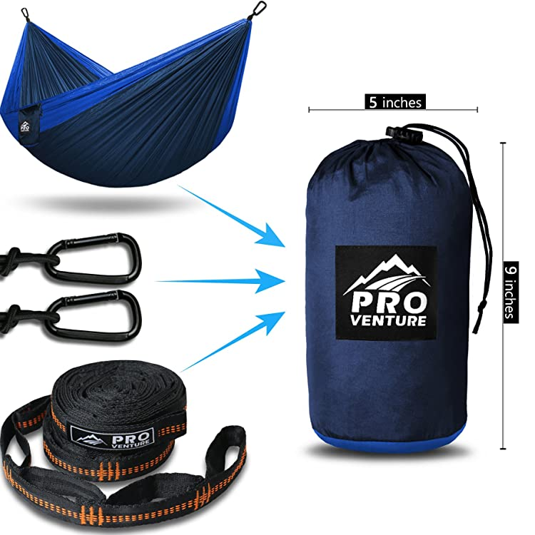 Double Camping Hammock - XL Hammocks, FREE Premium Straps & Carabiners