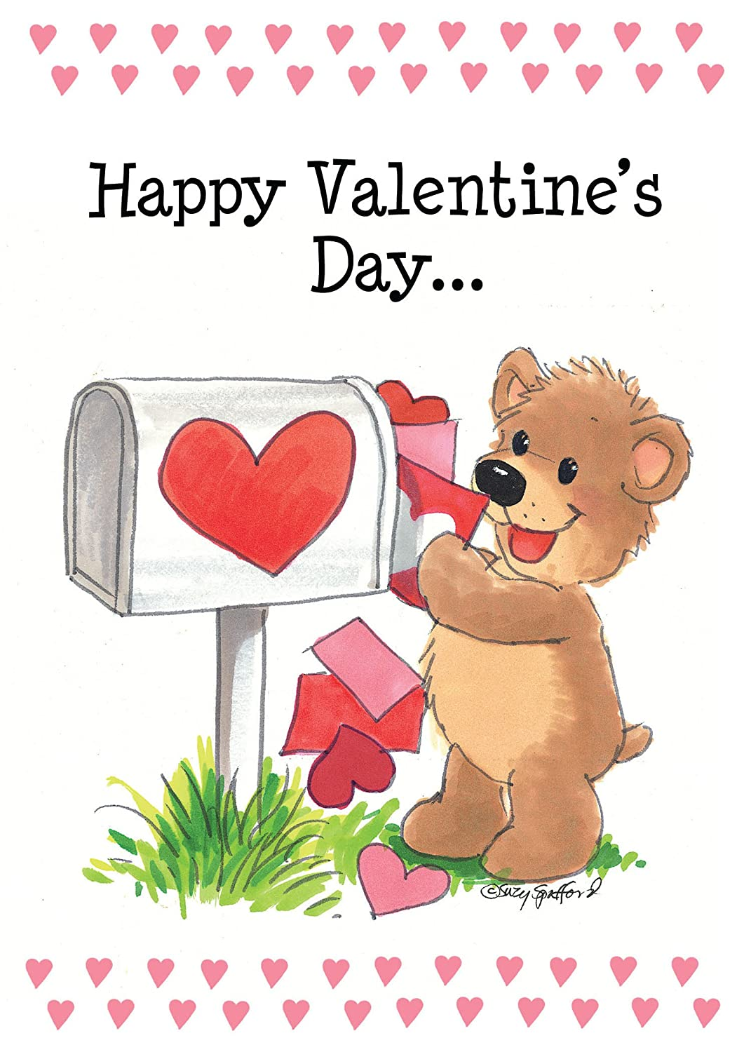 Amazon Suzys Zoo Valentines Cards 4 Pack Happy Valentines