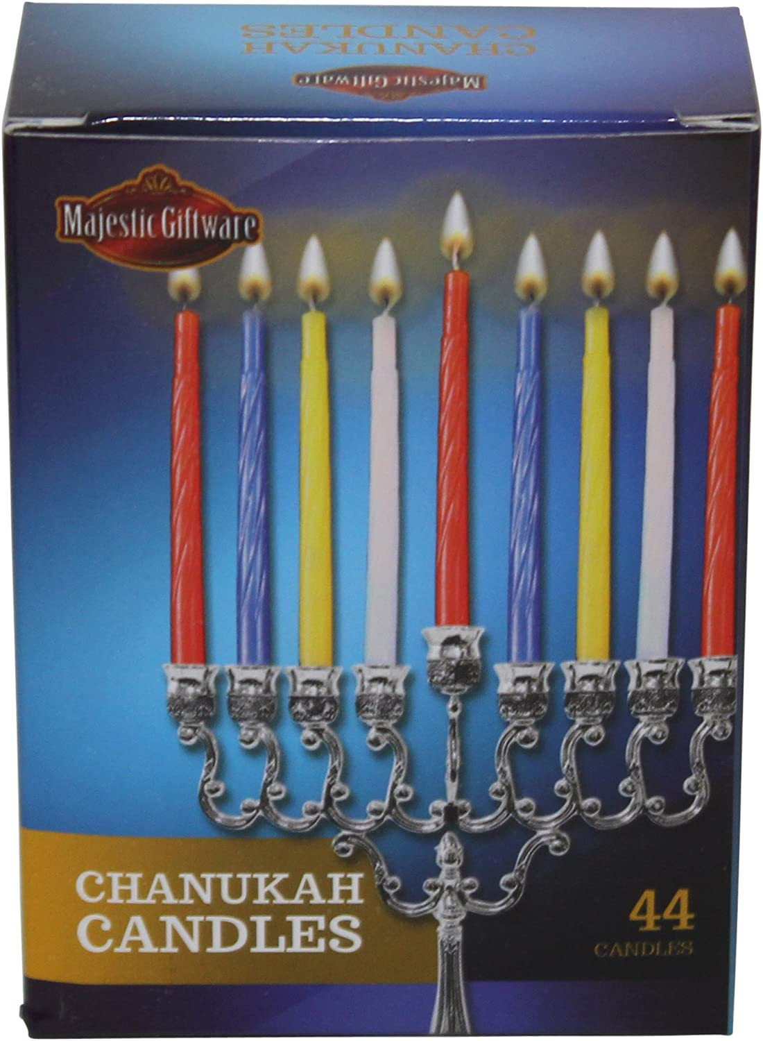 Majestic Giftware CH-C Chanukah Candles 44 Ct 4 H