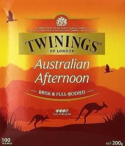 Twinings of London Australian Afternoon Tea - 100 Tea Bags - Full Bodied Black Tea Designed for Australia
