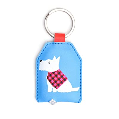 WPL impatients White Dog keylight - avec porte-clés intégré de torche à LED - idée cadeau