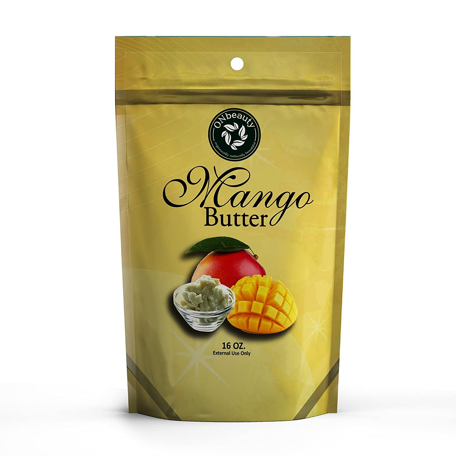 Mango Butter - 16oz Use for Lotion, Cream, Oil, Lip Balm, Stick or Body Butter ONbeauty