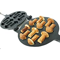 Non-stick Coating Cookie Mold Walnut Mushroom Assorted Tasty Homemade Cookies Baking Tools & Accessories Cookie Presses Bakeware (10 Mushrooms)
