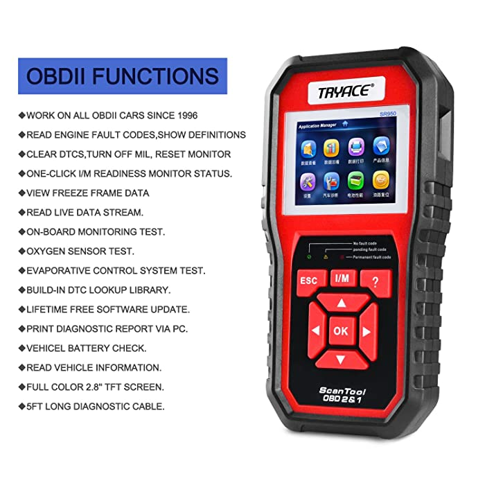 TryAce SR950 is one of the best engine code readers