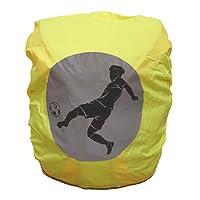 EANAGO Wasserdichter Regenschutz/Regenüberzug für Schulranzen/Rucksack mit Sicherheits-Reflektionsbild Fußball, ohne Nähte