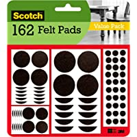 Scotch Mounting, Fastening & Surface Protection SP847-NA Assorted Furniture 162 Felt Pads, Brown