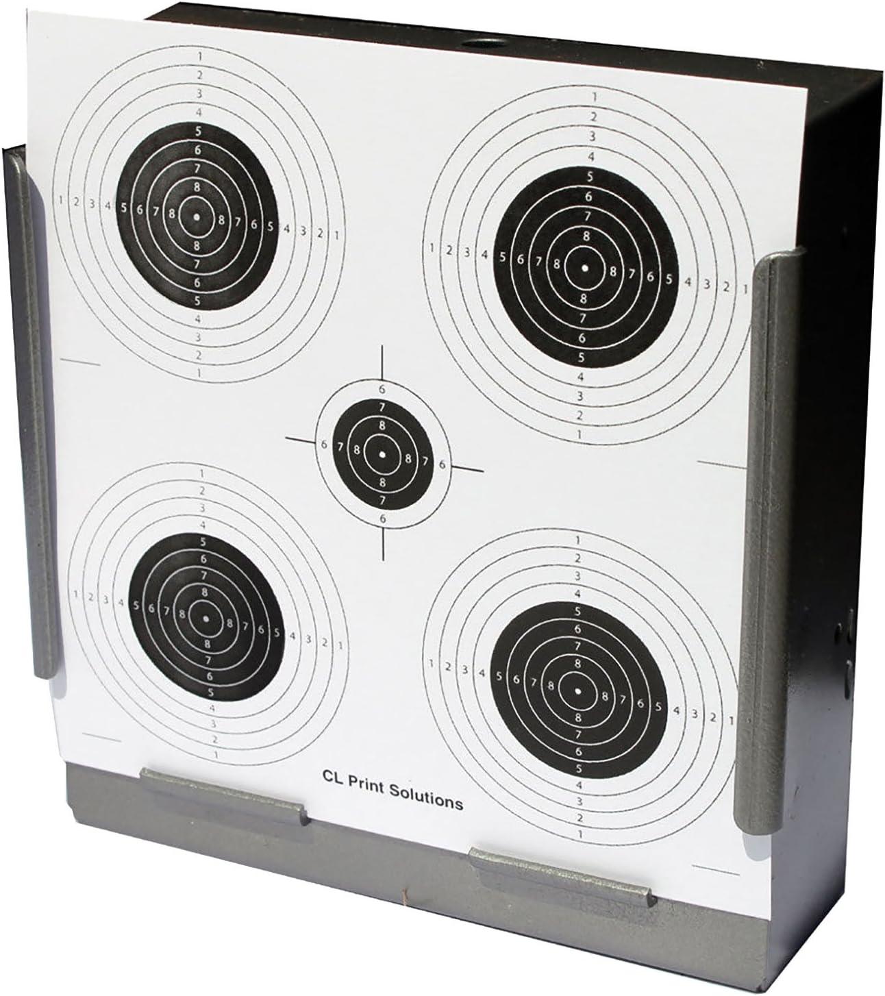 100x 17cm Cinco Círculos Papel objetivos Rifle de Aire, pistola (, 100g/m²