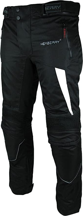 Heyberry Motorradhose Textil Schwarz Weiß Gr L Auto