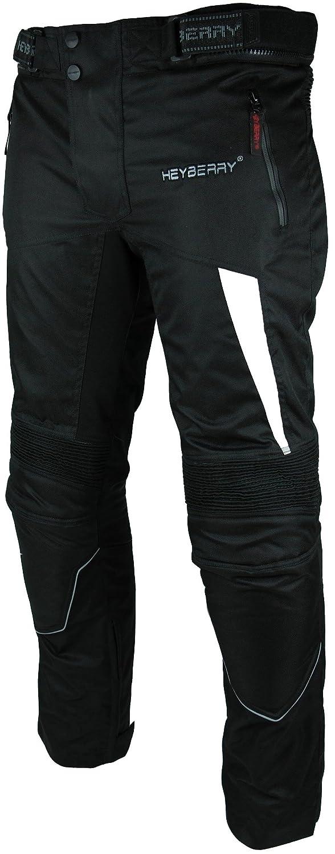 HEYBERRY Motorradhose Textil Schwarz Wei/ß Gr M