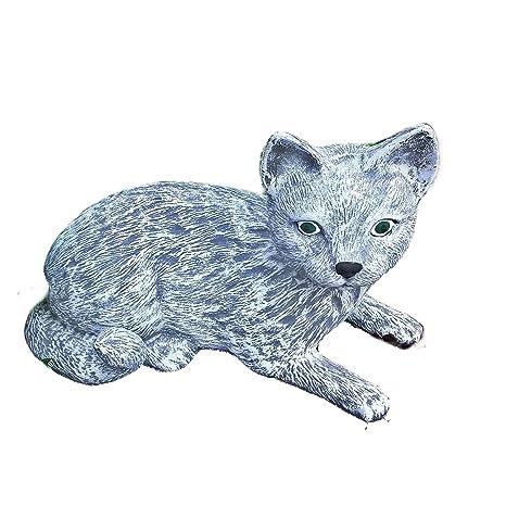 piedra Figura gato Mieze Decoración Jardín Animales Animales Figura Jardín figuras nuevo 01 macizo de piedra