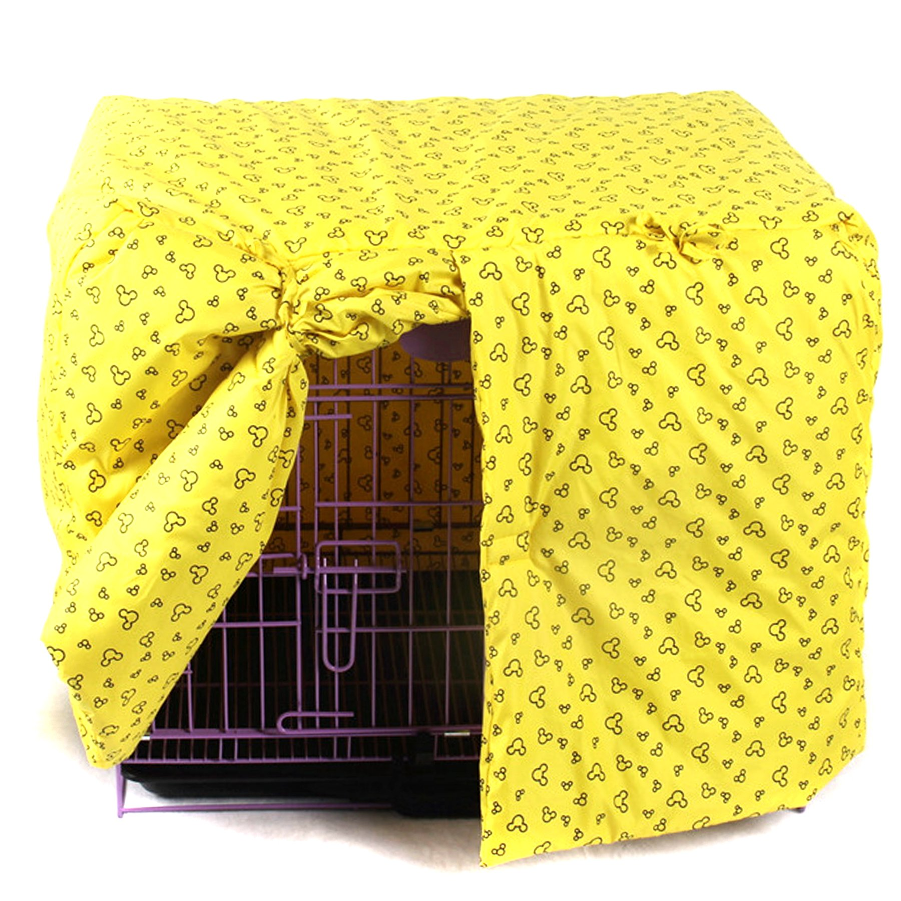 Alfie Pet by Petoga Couture - Glade Pet Polyester Crate Cover - Color: Yellow, Size: Small