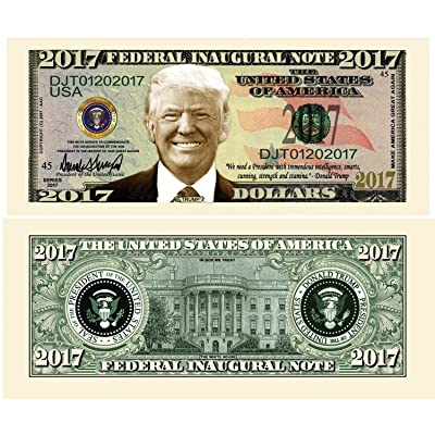 American Art Classics Pack of 5 - Donald Trump 2020 Federal Inaugural Presidential Dollar Bill Limited Edition: Toys & Games