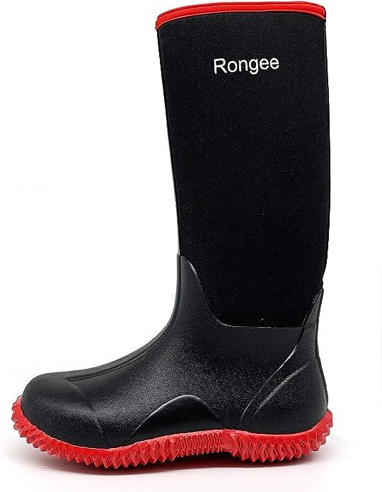Rongee Women's Muck Rubber Rain Boots Neoprene Insulated Waterproof